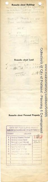 Assessor's Record, 156-158 Woodford Street, Portland, 1924