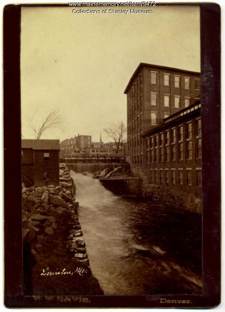 Lewiston canal, ca. 1900