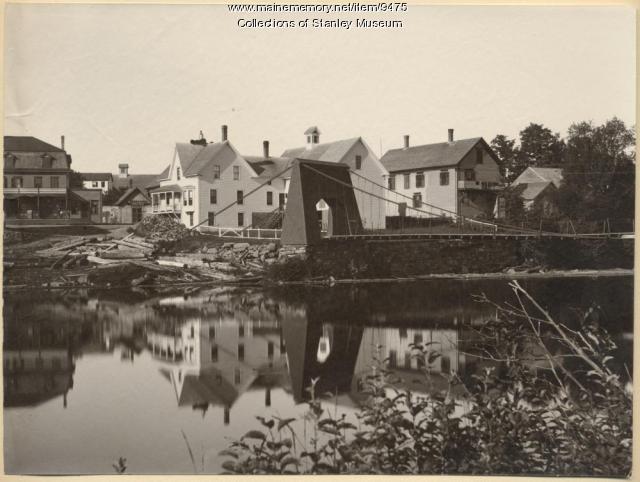 Old Chain Bridge, Kingfield, ca. 1895
