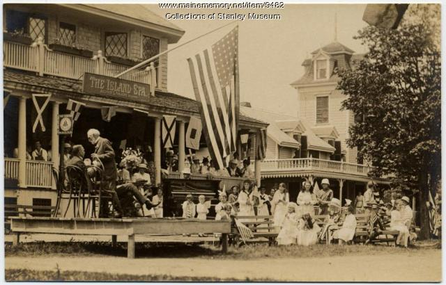 Fourth of July Ceremonies, Squirrel Island, 1918