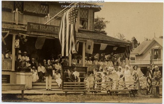 Fourth of July Ceremonies, Squirrel Island, 1918