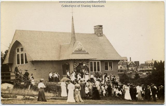 Squirrel Island Library dedication, 1904