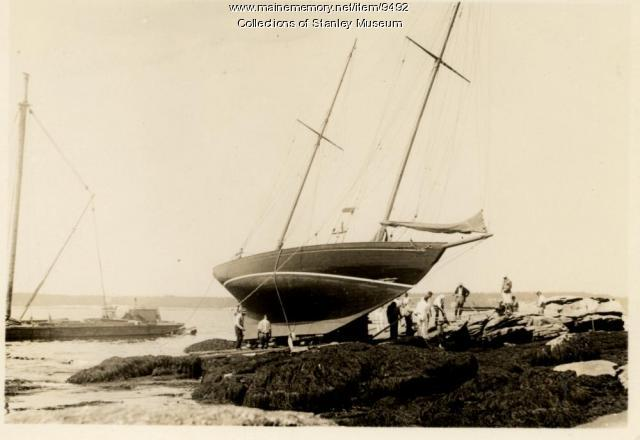 Aground at Farrington Point, Squirrel Island, ca. 1930