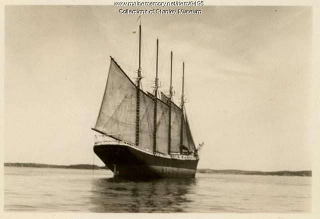 Schooner Zebedee E. Cliff, Boothbay Harbor