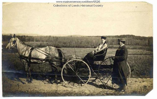 Lizzie Fitch and Will Burgess, Leeds, ca. 1905