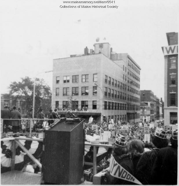 Lyndon B. Johnson campaign, Portland, 1964