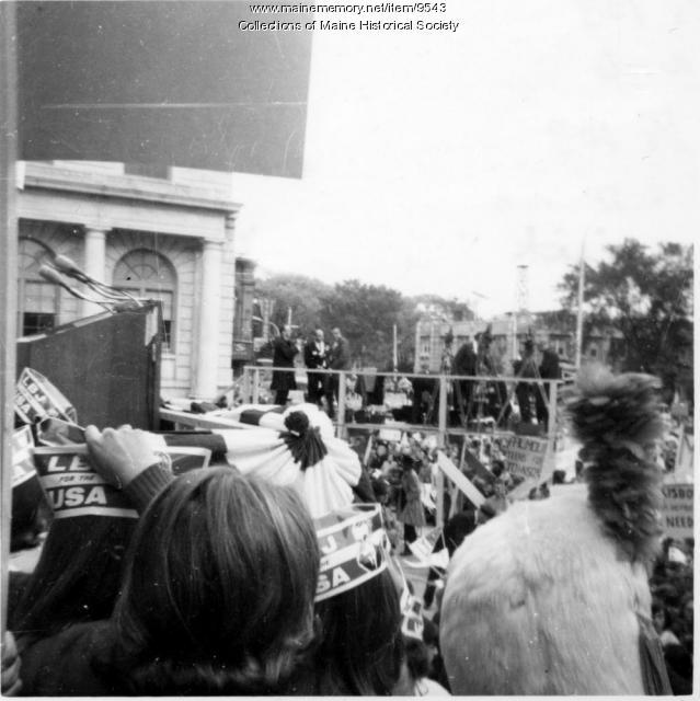 Lyndon B. Johnson in Portland, Sept. 28, 1964