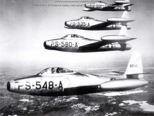 Dow Air Force Base F-84s, Bangor, 1948