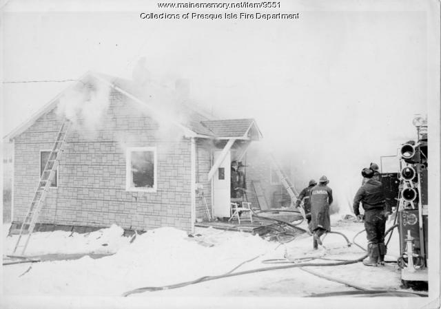 House fire, Presque Isle, 1960