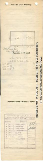 Assessor's Record, Barn, Taft Avenue, Portland, 1924
