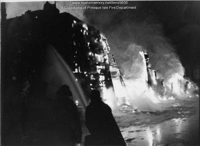 Washburn potato house fire, 1962