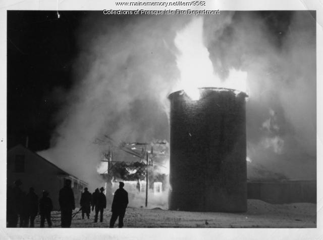 Woodworth barn fire, Presque Isle