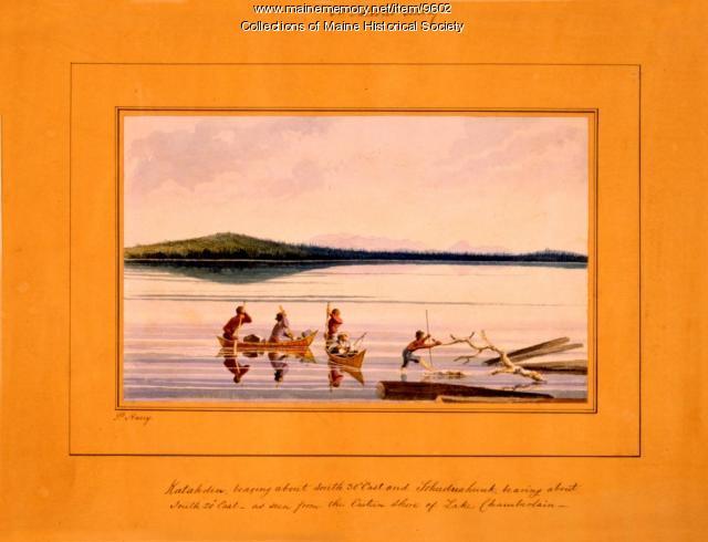 Katahdin, as seen from Chamberlain Lake, 1839