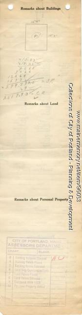 Assessor's Record, 64-70 Washburn Avenue, Portland, 1924