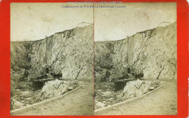 McClain's Quarry, Blackington's Corner, Rockland, ca. 1875