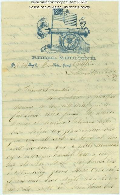 Pvt. John Stewart letter from Lewinsville, VA, 1861
