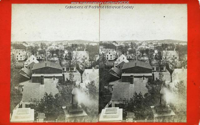 View south from top of custom house, Rockland, ca. 1875