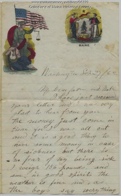 Pvt. John Sheahan letter to parents, Washington, D.C., 1862