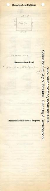 Assessor's Record, 271-305 Warren Avenue, Portland, 1924