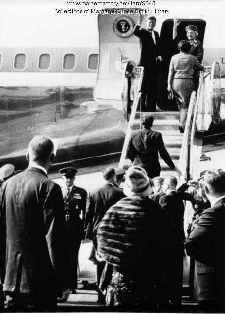 JFK arrives in Maine for Honorary Degree, 1963