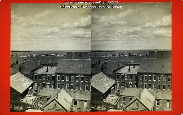 View northeast from top of custom house, Rockland, ca. 1875