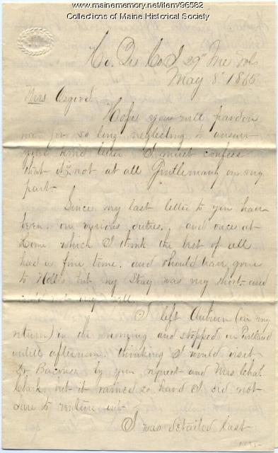 Sgt. C. H. Pettengill to Martha Osgood, Washington, 1865