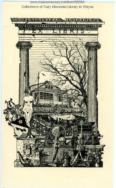 Alfred Merian bookplate, ca. 1935