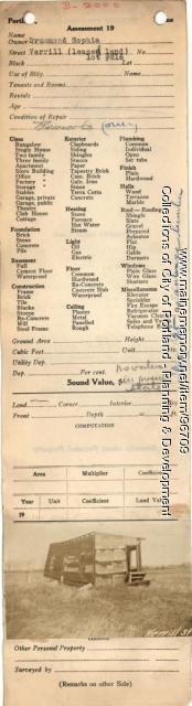 Verrill Street Lot 216, Portland, 1924