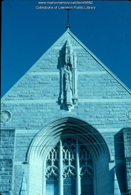 Front façade of St. Mary's Parish, Lewiston, ca. 1970