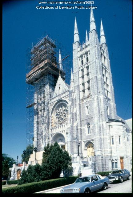 Restoration on Basilica of Saints Peter and Paul, Lewiston, ca. 1995