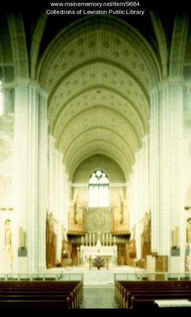 Interior of the Basilica of Saints Peter and Paul, Lewiston, ca. 1980