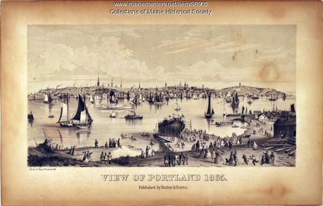 View of Portland, 1865