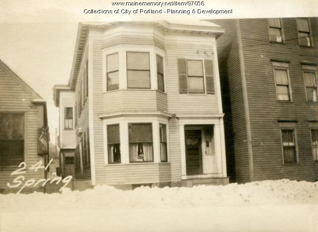 241 Spring Street, Portland, 1924