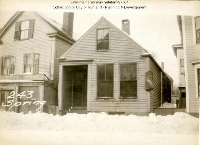 243 Spring Street, Portland, 1924