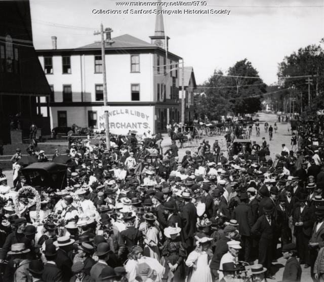 Celebration in Sanford Square, ca. 1892