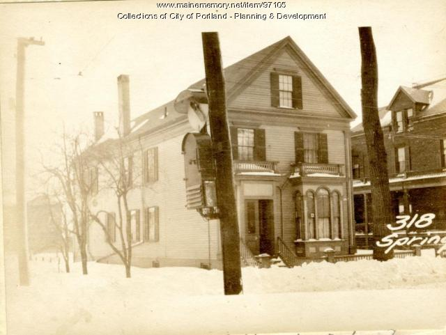 318 Spring Street, Portland, 1924