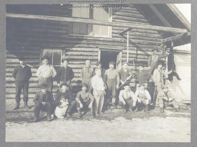 Workers, woodsmen, guides, Norcross, ca. 1900