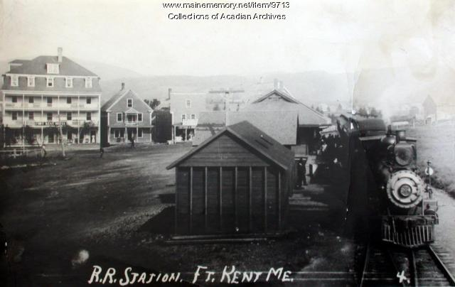 Railroad Station, Fort Kent, ca. 1920