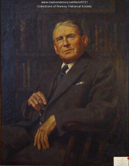 Vivian Milner Akers portrait of Judge Stearns, 1948