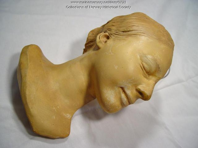 Life mask of Frances Elizabeth Moore, Dec. 29, 1924