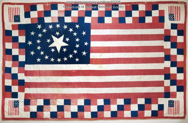 Civil War quilt , Belfast, 1864