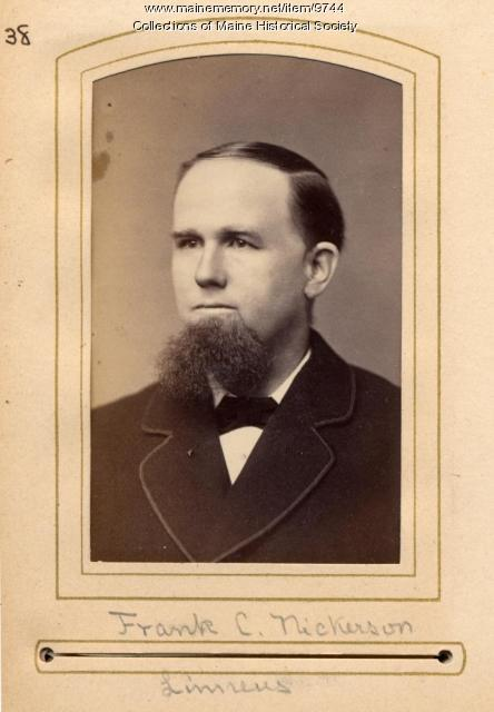 Frank C. Nickerson, Linneus, 1880