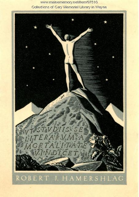 Robert J. Hamershlag bookplate, 1929