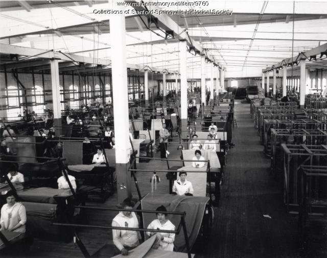 Women employees, Sanford Mills, circa 1910