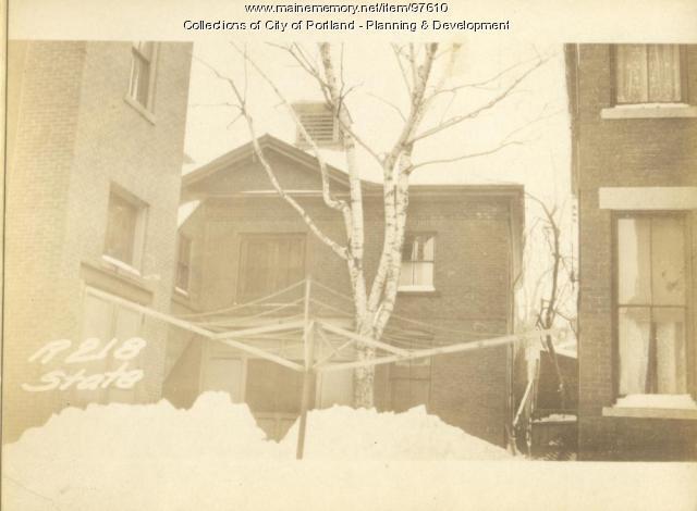 218 State Street (rear), Portland, 1924