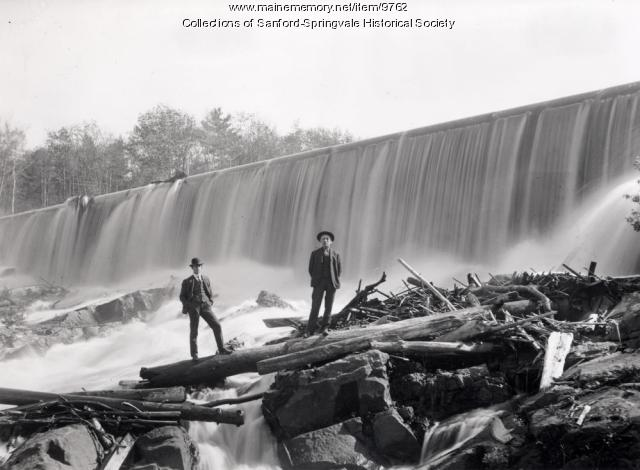 Mousam River Dam at Old Falls, ca. 1905
