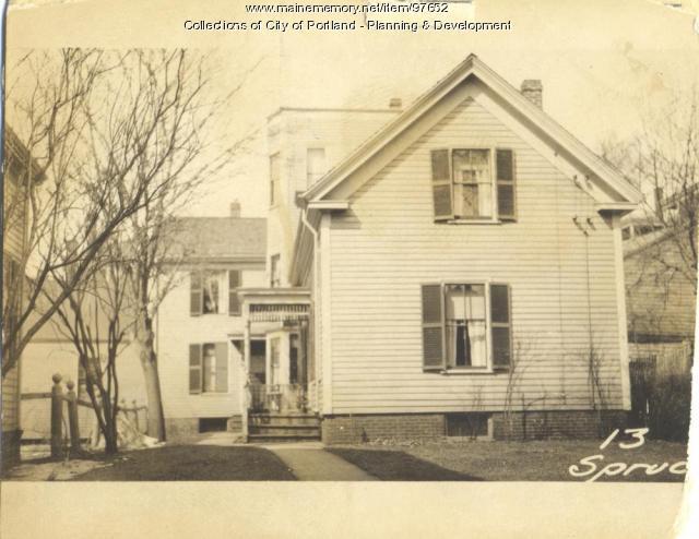 13 Spruce Street, Portland, 1924