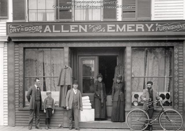 Allen and Emery's Store, Springvale Square, 1891