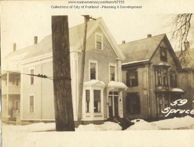59-61 Spruce Street, Portland, 1924