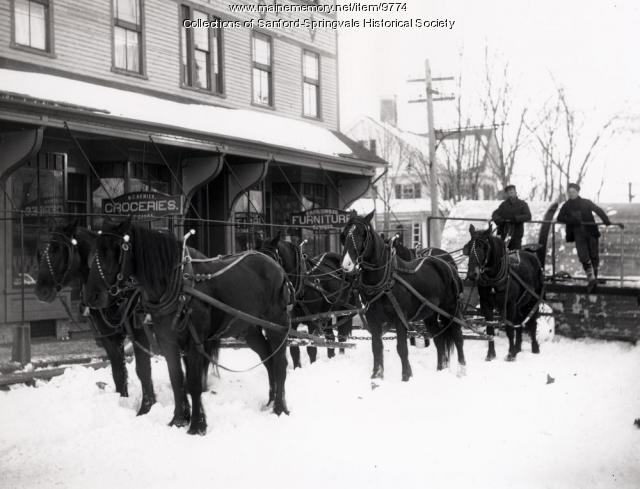 Snow roller, Springvale, ca.1900